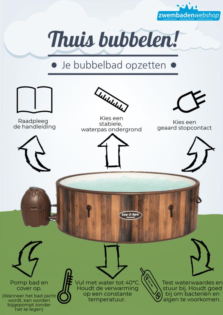 Opblaasbare-bubbelbad-opzetten